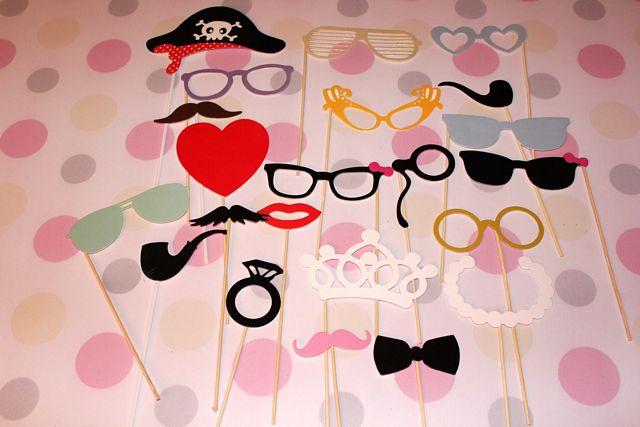 okulary na patyczkach, gadżety do fotobudki