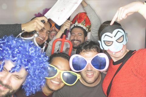 fotobudka na imprezie hallowweenowej Cisco