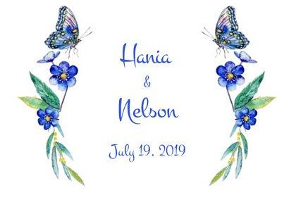 fotobudka na weselu Hani i Nelsona - grafika z wydruku