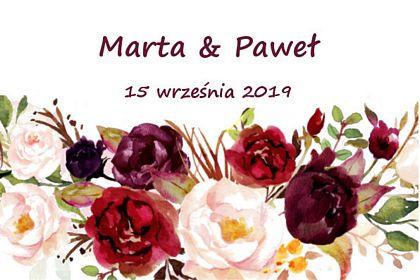 fotobudka, wesele, wydruk w czerwone kwiaty