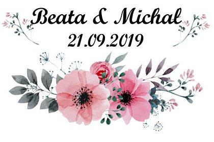 fotobudka wesele, prosty szablon wydruku w kwiaty, maki