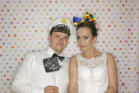 trąbki, fotobudka na weselu w osp