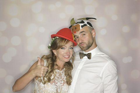 fotobudka wesele kluszkowce, para młodda