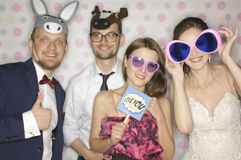 fotobudka na weselu Oli i Bartka