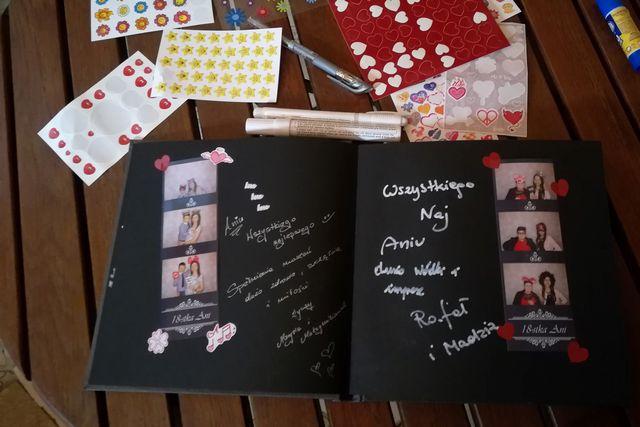 fotobudka na osiemnaste urodziny - księga gości
